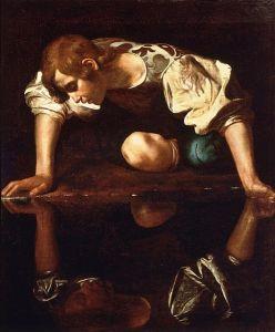 495px-Narcissus-Caravaggio_(1594-96)